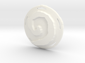 Hearthstone Pendant - Plastic Part Only in White Processed Versatile Plastic
