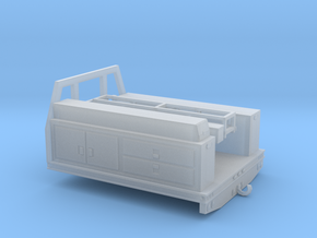 1/64th Fire service utility flatbed 7' wide in Frosted Ultra Detail