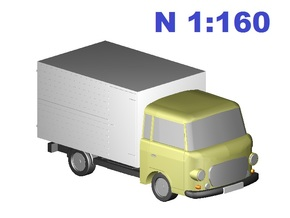 Barkas Koffer/box (N, 1:160) in Frosted Ultra Detail