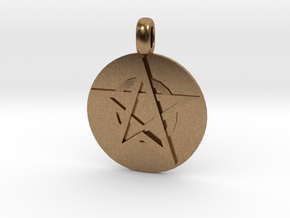 WITCH TALISMAN Amulet Jewelry symbol in Natural Brass