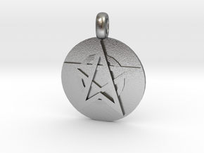 WITCH TALISMAN Amulet Jewelry symbol in Natural Silver