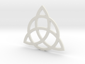 2.7 Triquetra in White Strong & Flexible