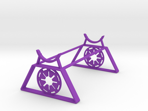 Galactic Republic Saber Stand in Purple Processed Versatile Plastic