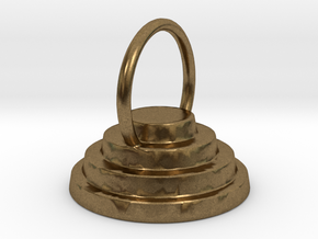 Devo Hat 15mm Earring / Pendant in Natural Bronze