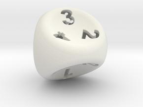 D4 in White Natural Versatile Plastic