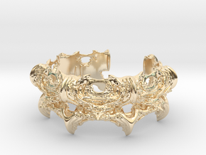 Intestines of Complex Numbers - Bracelet II in 14k Gold Plated Brass