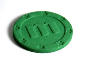Memorycoin real coin in Green Processed Versatile Plastic