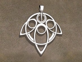 Yuna Summoner Pendant  in Fine Detail Polished Silver