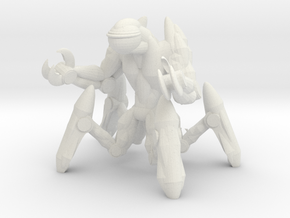 Creepy Mech in White Natural Versatile Plastic