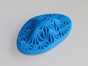 """Asanoha"", Self-Massage Tool in Blue Strong & Flexible Polished"