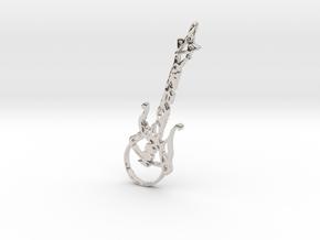 Guitar Pendant in Platinum