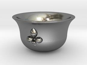 Sake cup fleur-de-lis  in Polished Silver