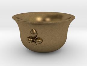 Sake cup fleur-de-lis  in Natural Bronze