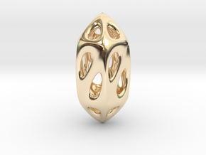 Geo Pendant in 14k Gold Plated Brass