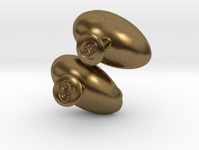 Fetus Cufflinks  in Natural Bronze