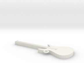 Electric Guitar Key Chain in White Strong & Flexible