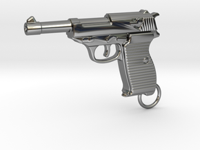 WALTHER P38 in Fine Detail Polished Silver
