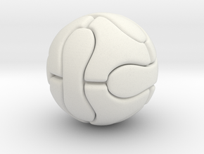 Foosball ball (2.5cm) in White Natural Versatile Plastic