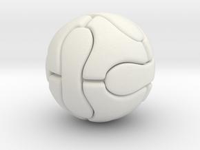Foosball ball (2.5cm) in White Natural Versatile Plastic