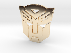 Autobot emblem small in 14K Yellow Gold