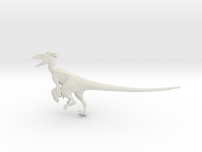 Dinosaur Utahraptor 1:20 V1 in White Strong & Flexible