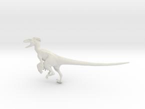 Dinosaur Utahraptor 1:20 V1 in White Natural Versatile Plastic