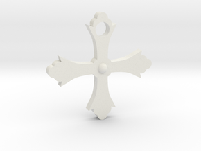 Crusader Cross in White Strong & Flexible