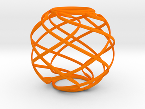 Ribbon Sphere in Orange Strong & Flexible Polished