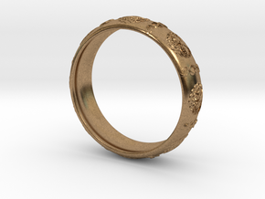 Tree of life DNA men's ring size 10 in Natural Brass