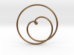 Heart Circular Pendant in Natural Brass