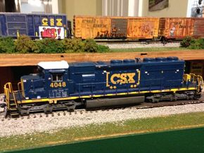 HO scale 1:87 CSX SD40-3 Wabtec Cab in Smooth Fine Detail Plastic