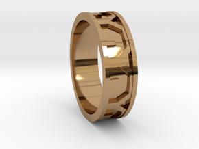 Arcs Sz12 in Polished Brass