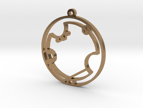 Avery - Necklace in Natural Brass