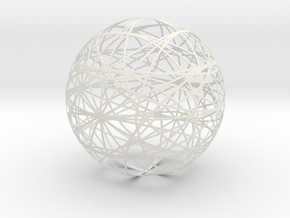 1050 sphere_200mm in White Natural Versatile Plastic