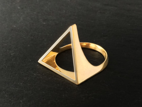 Triangle Ring - Sz5 in 18K Gold Plated