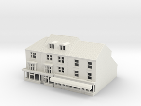 HHS-123 N Scale Honiton High street building 1:148 in White Natural Versatile Plastic