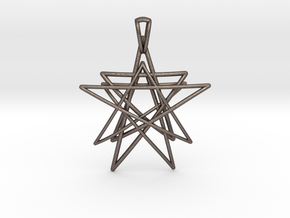 Reach for the Stars Pendant in Polished Bronzed Silver Steel