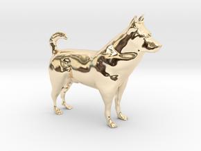 "Shepherd Dog - 5 cm / 2"" in 14k Gold Plated Brass"