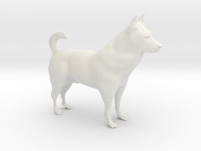 "Shepherd Dog - 5 cm / 2"" in White Natural Versatile Plastic"