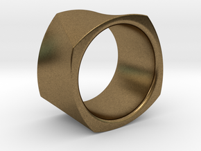 Motion Cube Ring Size 10/T in Natural Bronze