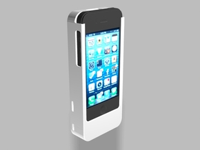 iPhone4/4s Nautilus 2500mah Charger with USB Out in White Strong & Flexible
