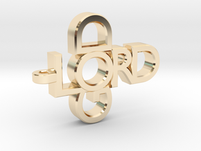 Lord God Pendant in 14K Yellow Gold