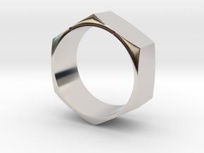 Hex Nut Maker Ring (Size 10.5- 20mm) in Platinum