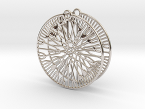 Fluid Earrings in Platinum