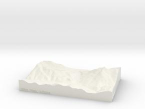 Custom 5'' Clifton Peak, Arizona, USA in White Natural Versatile Plastic