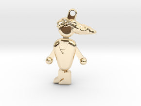 PCMR Keychain in 14k Gold Plated Brass