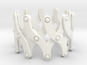 Expandable Bracelet SX in White Processed Versatile Plastic