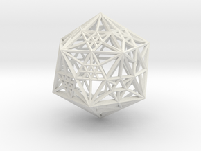 20s icowire dice in White Natural Versatile Plastic