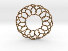 Intertwined in Natural Brass