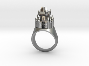 DW Cinderellas Castle Inspired Ring Size 9/S in Raw Silver